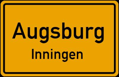 Ortsschild Augsburg Inningen