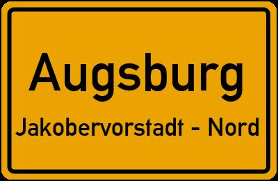 Kirchenpräsident-Veit-Straße Augsburg Jakobervorstadt - Nord