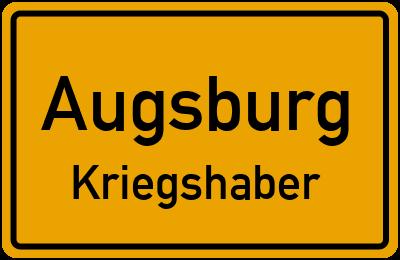 Ortsschild Augsburg Kriegshaber