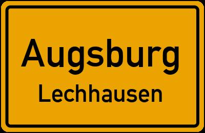 Ortsschild Augsburg Lechhausen