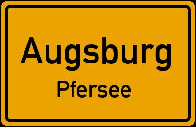 Ortsschild Augsburg Pfersee