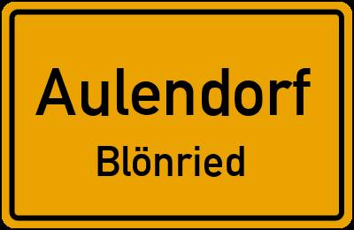 Ortsschild Aulendorf Blönried
