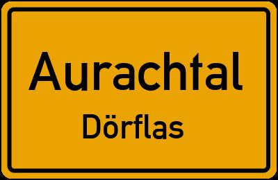 Ortsschild Aurachtal Dörflas