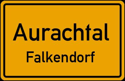 Ortsschild Aurachtal Falkendorf