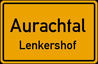 Ortsschild Aurachtal Lenkershof