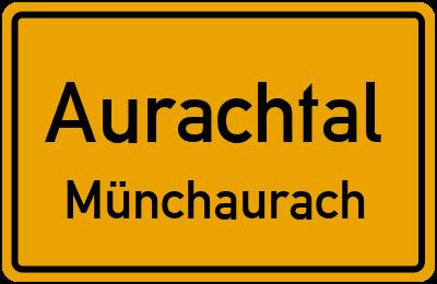 Ortsschild Aurachtal Münchaurach