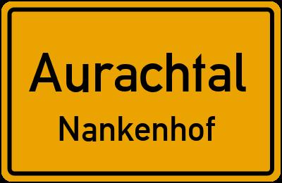 Ortsschild Aurachtal Nankenhof