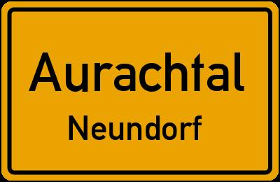 Ortsschild Aurachtal Neundorf