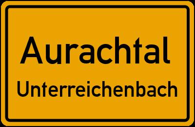Ortsschild Aurachtal Unterreichenbach