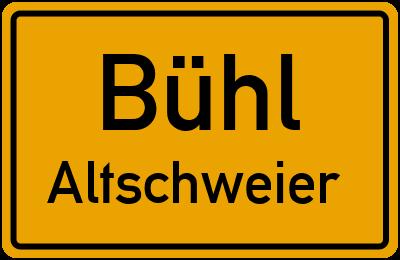 Ortsschild Bühl Altschweier