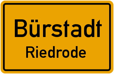 Ortsschild Bürstadt Riedrode
