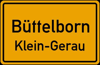 Straßenverzeichnis Büttelborn Klein-Gerau