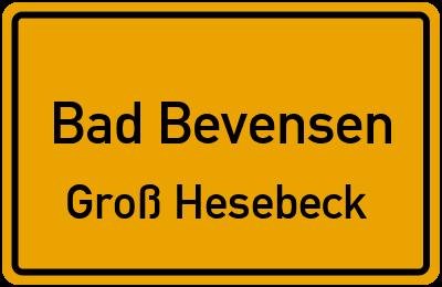 Straßenverzeichnis Bad Bevensen Groß Hesebeck