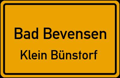 Straßenverzeichnis Bad Bevensen Klein Bünstorf