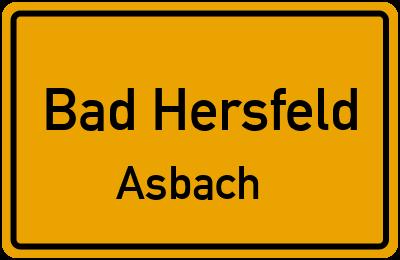 Schillerstraße in Bad HersfeldAsbach
