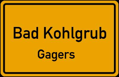 Ortsschild Bad Kohlgrub Gagers
