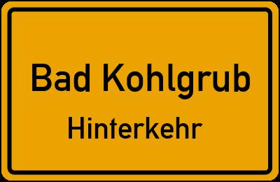 Ortsschild Bad Kohlgrub Hinterkehr