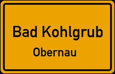 Ortsschild Bad Kohlgrub Obernau