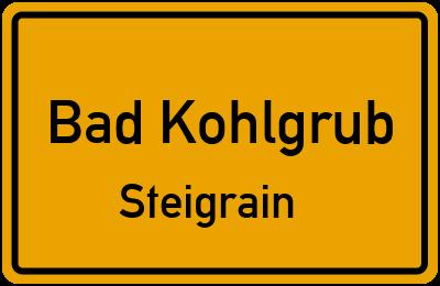 Ortsschild Bad Kohlgrub Steigrain