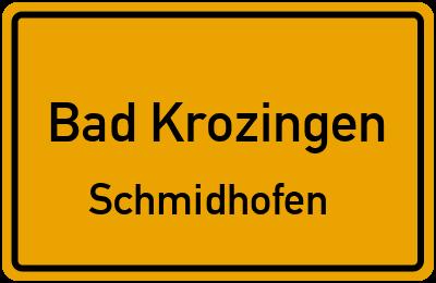 Straßenverzeichnis Bad Krozingen Schmidhofen