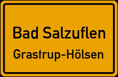 Ortsschild Bad Salzuflen Grastrup-Hölsen
