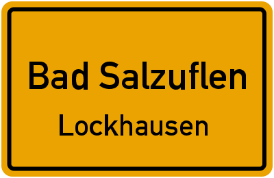 Ortsschild Bad Salzuflen Lockhausen