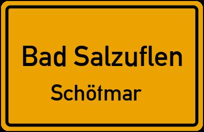 Ortsschild Bad Salzuflen Schötmar