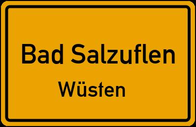 Ortsschild Bad Salzuflen Wüsten