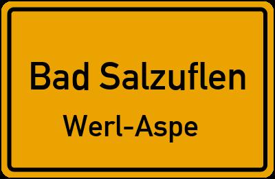 Ortsschild Bad Salzuflen Werl-Aspe