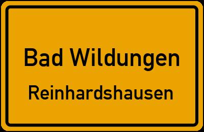 Ortsschild Bad Wildungen Reinhardshausen