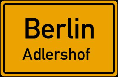 Straßenverzeichnis Berlin Adlershof