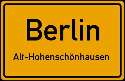 Ortsschild Berlin Alt-Hohenschönhausen