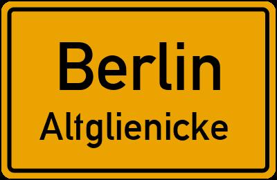 Ortsschild Berlin Altglienicke