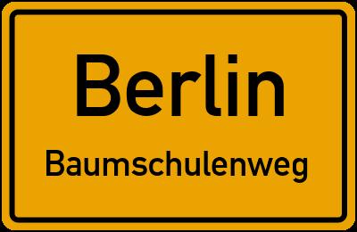 Ortsschild Berlin Baumschulenweg