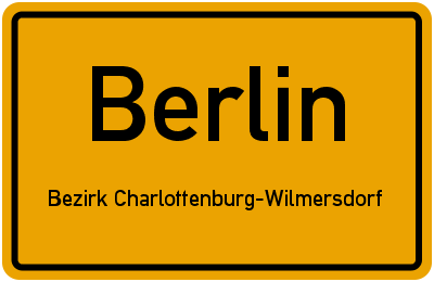 Hofackerzeile in BerlinBezirk Charlottenburg-Wilmersdorf