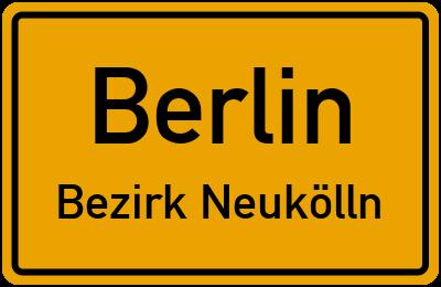Bäckerstraße in BerlinBezirk Neukölln