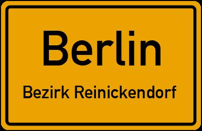 Straßenverzeichnis Berlin Bezirk Reinickendorf