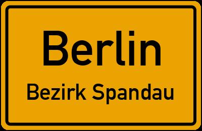 Straßenverzeichnis Berlin Bezirk Spandau