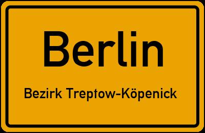 Sommerwiesenweg in BerlinBezirk Treptow-Köpenick