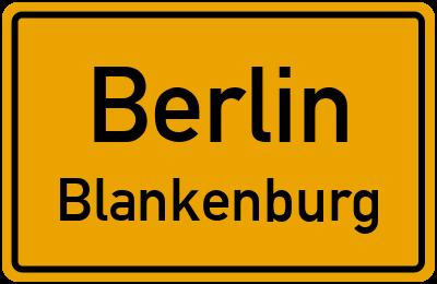 Ortsschild Berlin Blankenburg