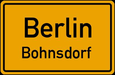 Ortsschild Berlin Bohnsdorf