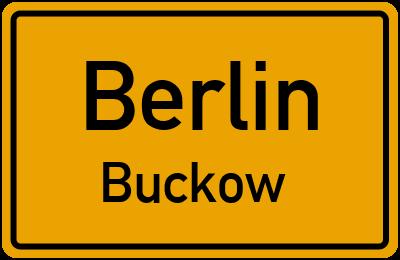 Ortsschild Berlin Buckow