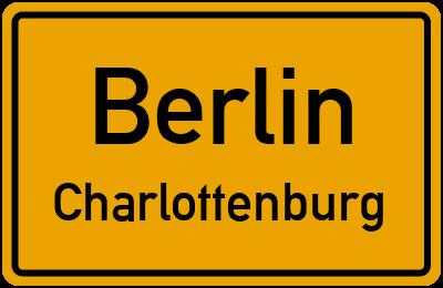 Ortsschild Berlin Charlottenburg