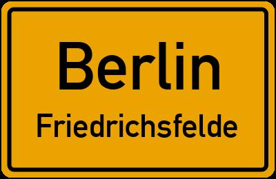 Straßenverzeichnis Berlin Friedrichsfelde