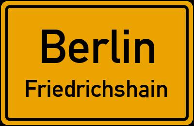Straßenverzeichnis Berlin Friedrichshain
