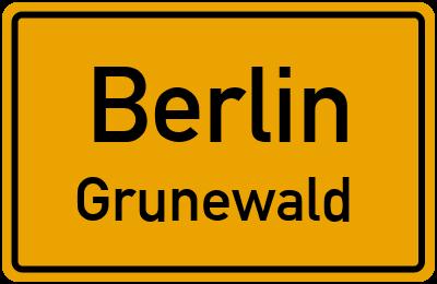 Ortsschild Berlin Grunewald