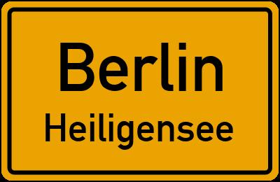 Ortsschild Berlin Heiligensee