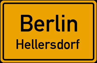 Ortsschild Berlin Hellersdorf