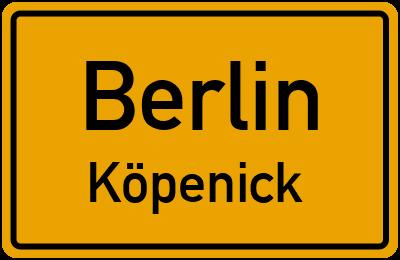 Ortsschild Berlin Köpenick