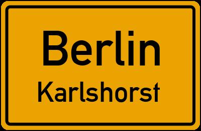 Ortsschild Berlin Karlshorst